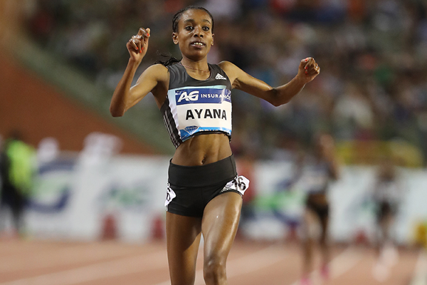 Almaz Ayana wins the 5000m at the IAAF Diamond League final in Brussels (Giancarlo Colombo)