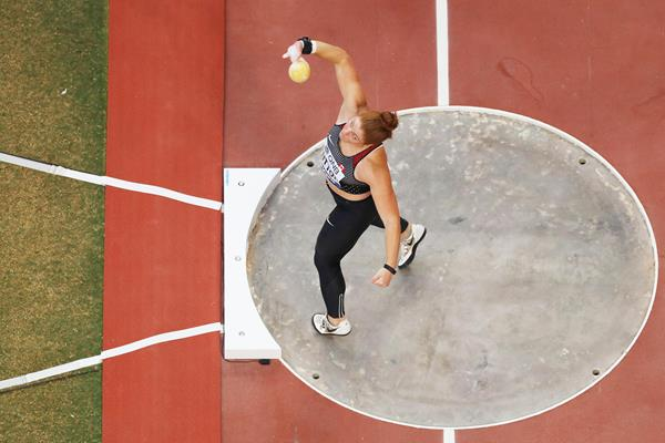 Canadian shot putter Sarah Mitton at the 2019 World Championships (Getty Images)