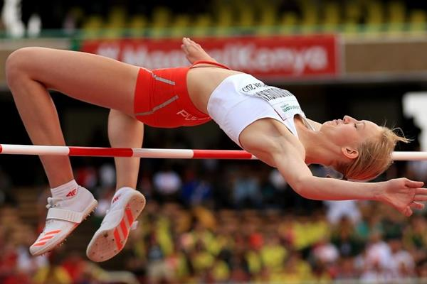 Martyna Lewandowska in the high jump at the IAAF World U18 Championships Nairobi 2017 (Getty Images)