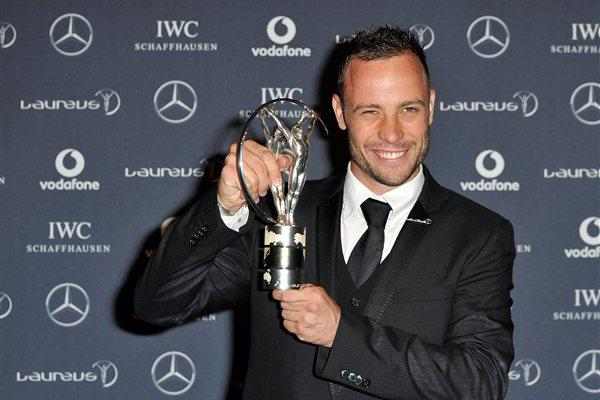 Oscar Pistorius with his Laureus Disability Award (Getty Images)