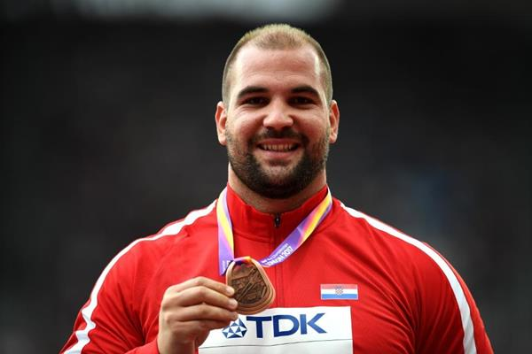 Shot put bronze medallist Stipe Zunic at the IAAF World Championships London 2017 (Getty Images)