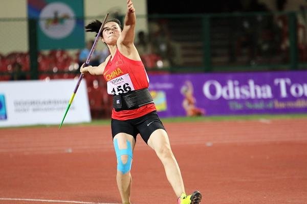 Li Lingwei wins the Asian title in Bhubaneswar (Rahul Pawar)