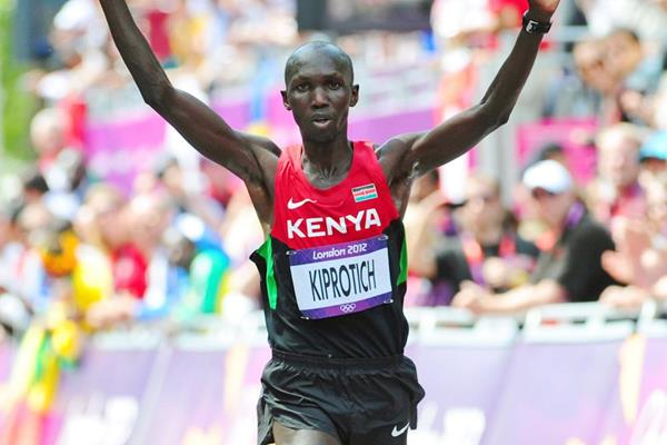 Wilson Kipsang Kiprotich takes the bronze medal in the Marathon at the London 2012 Olympics (Getty Images)