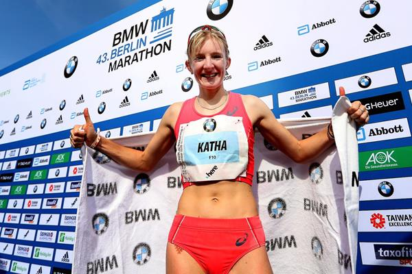 Katharina Heinig at the 2016 Berlin Marathon (Getty Images)