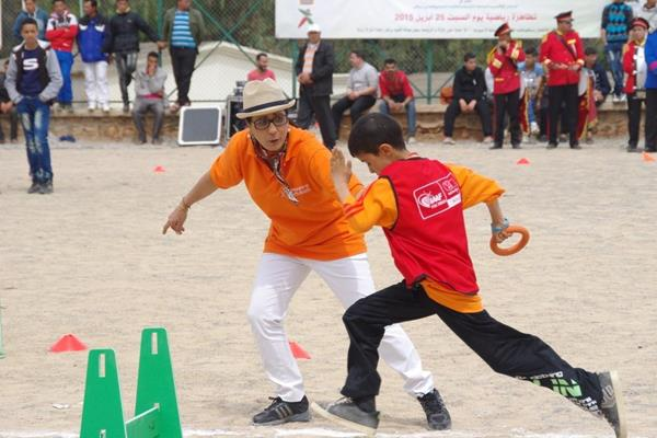 Nawal El Moutawakel at the IAAF / Nestlé Healthy Kids' Athletics event in Tafoughalte, Morocco (organisers)