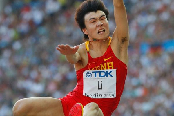 Li Jinzhe of China in action in the Long Jump at the 2009 World Championships (Getty Images)