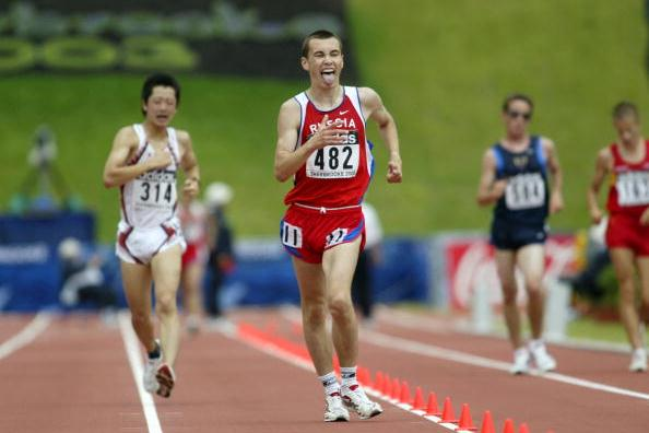 Aleksandr Prokhorov of Russia wins the 10000m walk in Sherbrooke (Getty Images)