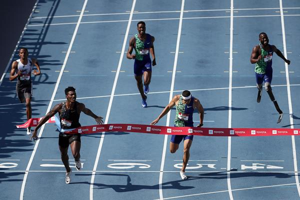 Fred Kerley takes the US 400m title in Des Moines (Getty Images)