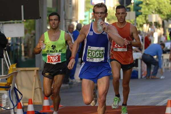Sandor Barzca of France, winner of the IUA 50 km Challenge Trophy in Palermo (Sean Wallace Jones)