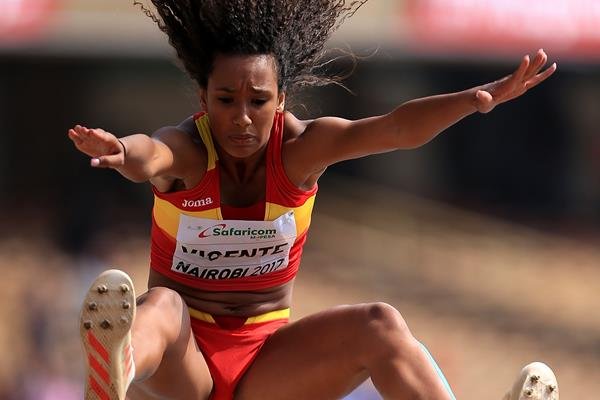 Maria Vicente in the heptathlon long jump at the IAAF World U18 Championships Nairobi 2017 (Getty Images)