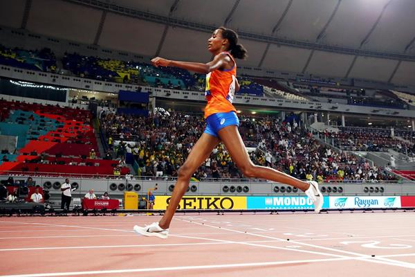 Sifan Hassan wins the 10,000m at the IAAF World Athletics Championships Doha 2019 (Getty Images)