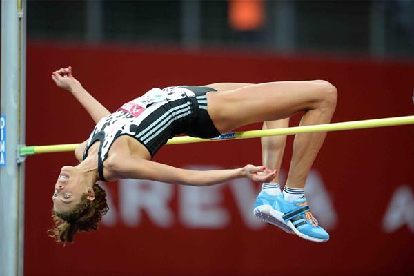 Blanka Vlasic wins the high jump at the IAAF Diamond League meeting in Paris (Jiro Mochizuki)