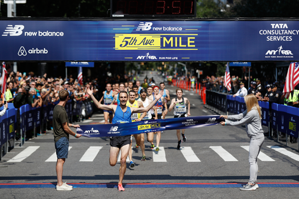 Nick Willis wins the Fifth Avenue Mile (Courtesy of NYRR)
