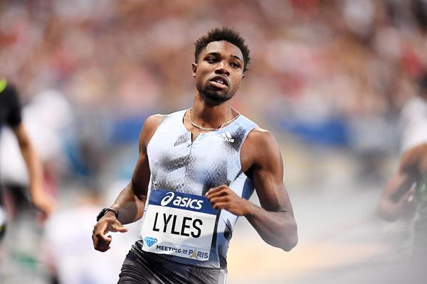 Noah Lyles wins the 200m at the IAAF Diamond League meeting in Paris (Gladys Chai von der Laage)