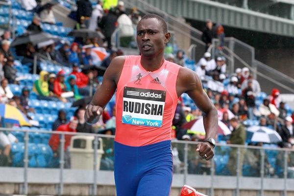 David Rudisha winning over 800m at the 2013 IAAF Diamond League in New York (Victah Sailer)