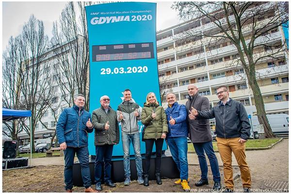 Launch of the countdown clock for the IAAF World Half Marathon Championships Gdynia 2020 (LOC)