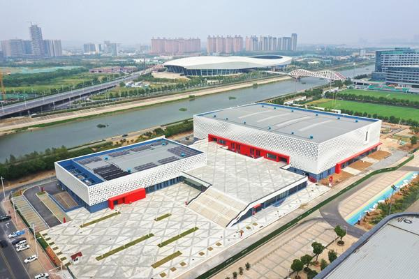 Nanjing's Cube, venue for the World Athletics Indoor Championships Nanjing 2020 (LOC)