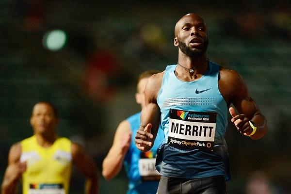 LaShawn Merritt wins the 200m at the 2014 Sydney Track Classic (Getty Images)