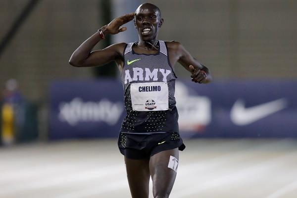 Paul Chelimo en route to his US 5000m title in Sacramento (Getty Images)