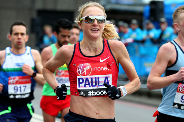 Paula Radcliffe at the 2015 London Marathon (Getty Images)