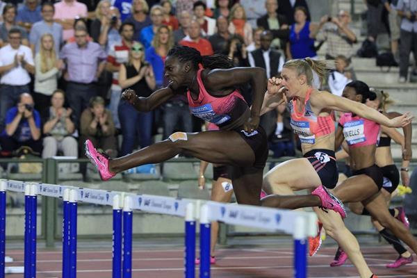 Dawn Harper-Nelson  at the 2013 IAAF Diamond League final in Brussels (Jean-Pierre durand / IAAF)