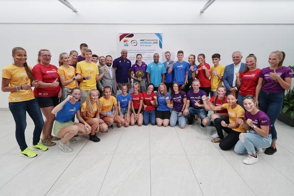Reception committee for the Continental Cup Team Captains at Ostrava airport (LOC)