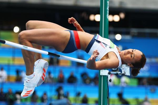 Jessica Ennis-Hill in the heptathlon high jump at the Rio 2016 Olympic Games (Getty Images)