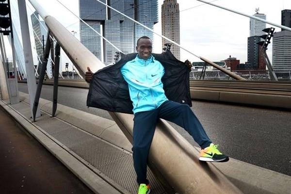 Eliud Kipchoge ahead of the 2014 ABN AMRO Rotterdam Marathon (Organisers)
