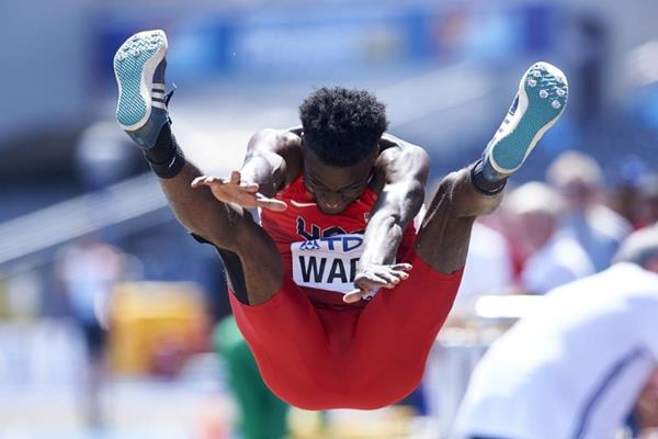 Ja'Mari Ward of the US competes in the long jump at the IAAF World U20 Championships Bydgoszcz 2016 (Getty Images)