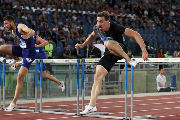 Sergey Shubenkov, winner of the 110m hurdles at the IAAF Diamond League meeting in Rome (Jean-Pierre Durand)