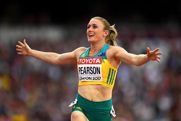 Sally Pearson in the 100m hurdles at the IAAF World Championships London 2017 (Getty Images)