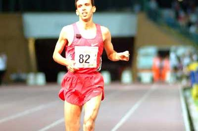 Hicham El Guerrouj wins the 3000m in Turin (Lorenzo Sampaolo)