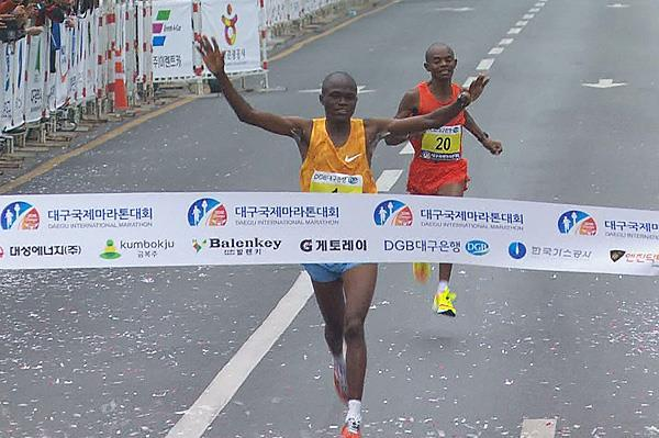 James Kwambai wins the Daegu Marathon (Organisers)