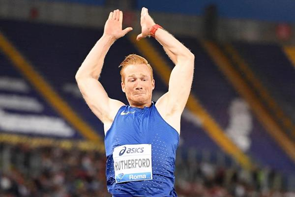 Greg Rutherford at the 2016 IAAF Diamond League meeting in Rome (Gladys Chai)