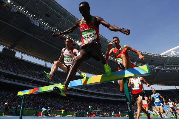 Ezekiel Kemboi in the 3000m steeplechase at the Rio 2016 Olympic Games (Getty Images)