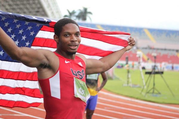 Remontay McClain at the 2015 NACAC Senior Championships in Costa Rica (Organisers)
