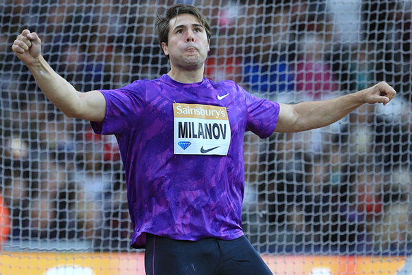 Discus winner Philip Milanov at the IAAF Diamond League meeting in London (Jean-Pierre Durand)