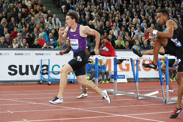 Sergey Shubenkov wins the 110m hurdles at the IAAF Diamond League meeting in Zurich (Jean-Pierre Durand)