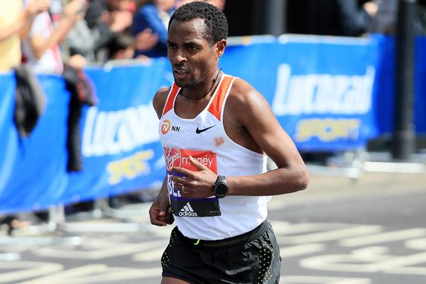 Kenenisa Bekele in action at the London Marathon (Getty Images)