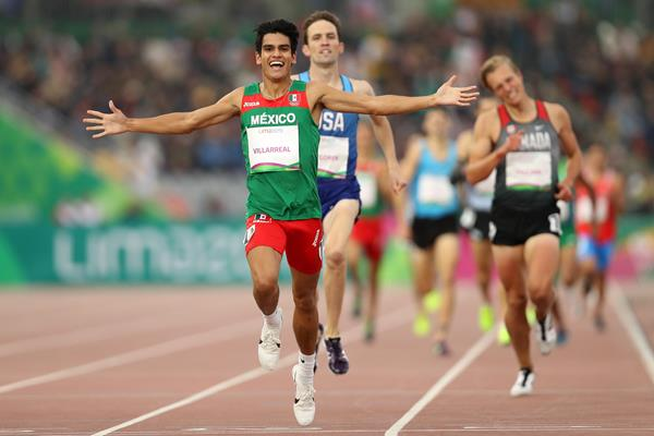 Carlos Villareal of Mexico takes the Pan-American 1500m title in Lima (Getty Images)