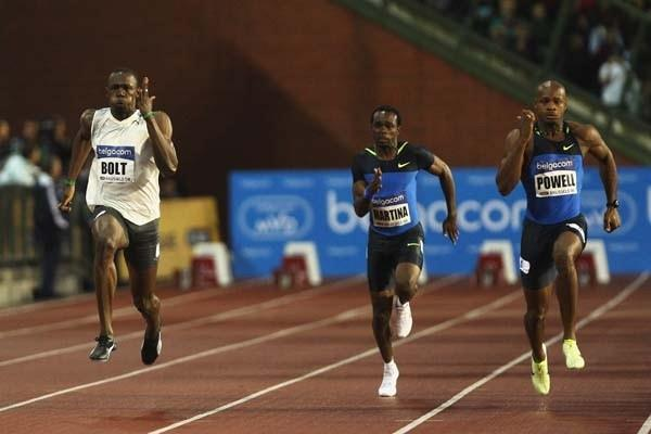 Usain Bolt of Jamaica on his way to winning the 100m (Getty Images)