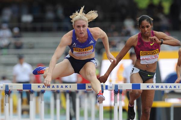 Sally Pearson at the 2015 Seiko Golden Grand Prix in Kawasaki (Getty Images)