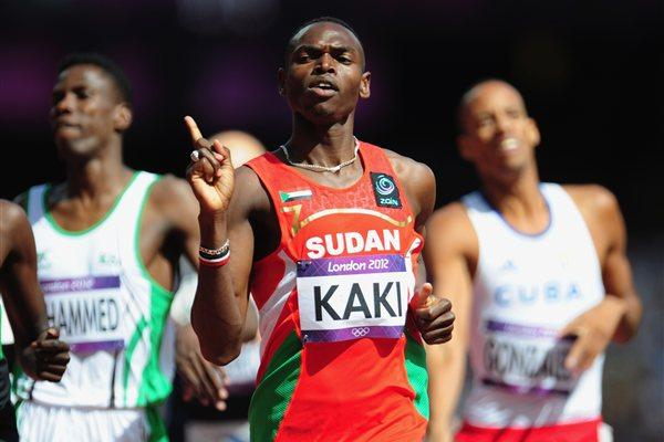 Abubaker Kaki of Sudan competes in the Men's 800m heat on Day 10 of the London 2012 Olympic Games at the Olympic Stadium on August 6, 2012 (Getty Images)