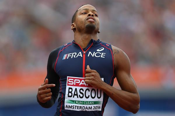 Dimitri Bascou of France winning the European 110m hurdles title (Getty Images)
