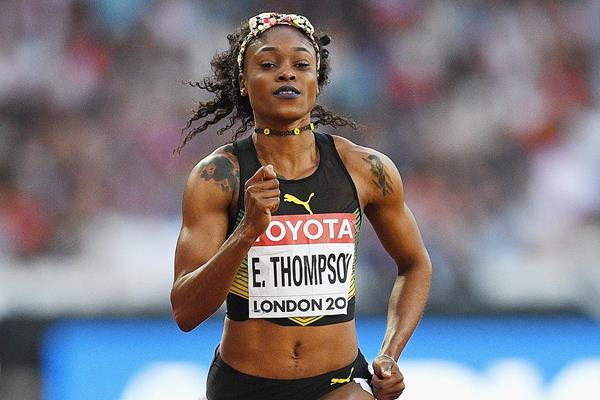 Elaine Thompson in the 100m at the IAAF World Championships (Getty Images)