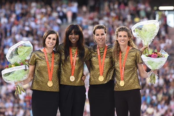 ..and at the 2016 Memorial Van Damme in Brussels, after their upgrade to gold (AFP/Getty Images)