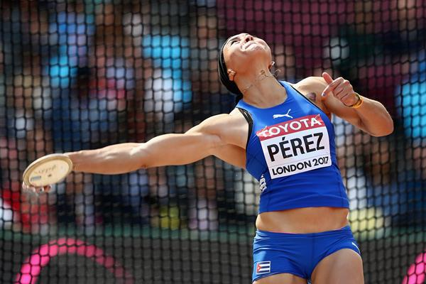 Yaime Perez in the discus at the IAAF World Championships London 2017