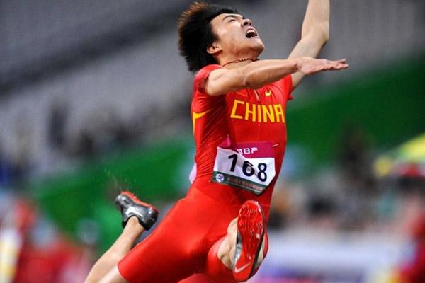 8.16m leap for Li Jinzhe to nab the Asian title (Jiro Mochizuki)