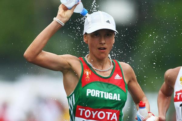 Portuguese race walker Susana Feitor at the IAAF World Championships (Getty Images)