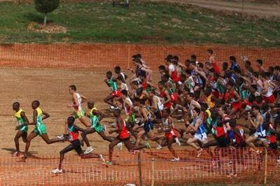 The junior men's race gets underway in Amman (Getty Images)